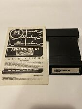 Adventures Of Tron ( Atari 2600 ) Cartridge and manual  - Authentic- Tested