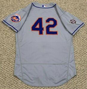 JACKIE ROBINSON MAZEIKA size 46 #42 2020 New York Mets game jersey road MLB