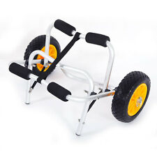 Bend Kayak Canoe Boat Carrier Dolly Trailer Tote Trolley Transport Cart Wheel