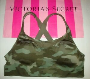 NWT VICTORIA'S SECRET PINK ULTIMATE GYM HIGH IMPACT SPORTS BRA CAMO CAMOUFLAGE L