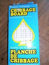 Vintage Hoyle Plastic Folding 3 Track Cribbage Board #2426