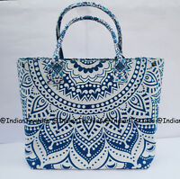 Indian Mandala Tote Bag Shoulder Handbag Cotton Women Satchel Purse Lady Decor