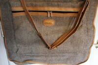 Saks Fifth Avenue Vintage Tan Luggage Garment Bag, Has Keys, Excellent Condition