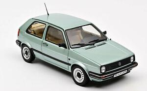 Norev 188553 1987 VW Golf II CL grün met. Modellauto 1:18 Türen Hauben zu öffnen