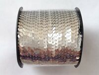 New! Silver Sequins 100 yard Roll Spool String 6mm Sewing Tools Sequin Dress