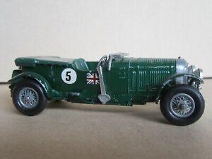 890Q 1962'S Matchbox No Y5 England Bentley 4 1/2 Liter 1929 #5 Green 1:52