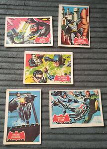 1960s BATMAN A & BC RED BAT CARDS FAIR/GOOD CONDITION x5 DC 9A 10A 25A 26A 43A