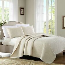 Vintage Cotton Quilted Cover Bedspread Coverlet Throw Blanket - 3pcs Queen King