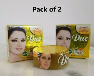 2 X Due Beauty Cream Best Face Whitening Cream 100% Original Pakistani Brand