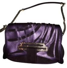 Clutch. Swarovski Clutch. crystal clutch purse. Leather bag violet. Purple bag