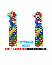 Super Mario Bros BIRTHDAY COLUMN Balloons Decorations Cake Gift Table Sega Party