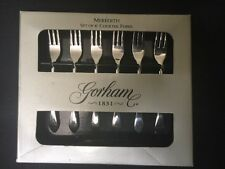 Gorham MEREDITH Cocktail/Seafood Forks Stainless 6pc Boxed