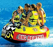 Towable Inflatable Water Tube Rider Boating Tubing WaterSport Ski Float Raft New