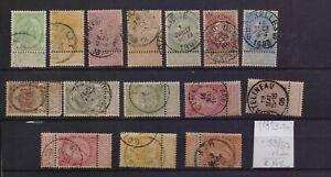 ! Belgium 1893-1900.   Stamp. YT#53/67. €145.00!