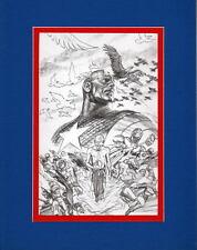 CAPTAIN AMERICA ORIGIN COLLAGE PRINT PROFESSIONALLY MATTED Alex Ross Avengers