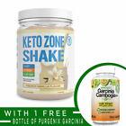 Divine Health KETO ZONE Protein Meal Replacement Shake VANILLA  FREE GARCINIA