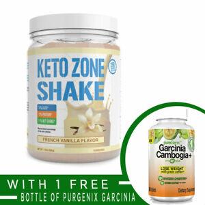 Divine Health KETO ZONE Protein Meal Replacement Shake VANILLA + FREE GARCINIA
