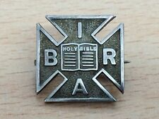 Reading Association Brooch Pin 1912 Antique Solid Silver International Bible