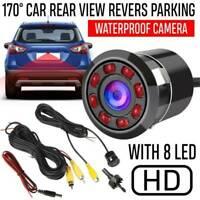 170° 8 LED Car Backup Rear View Reverse Parking HD Camera Night Vision Cam IP67