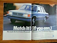 1985 Chrysler Plymouth Reliant Super K Ad