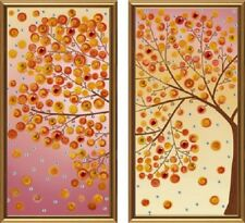 Seasons. Sun  . Kit for Beads embroidery over the fabric with printed pattern