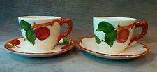 PAIR OF FRANCISCAN APPLE CUP AND SAUCERS - AMERICAN BACKSTAMP