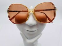 Vintage Swank Kathrina Honey Brown Butterfly Sunglasses FRAMES ONLY