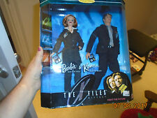 NIB X-Files Scully Mulder Barbie & Ken Dolls Collector Edition David Duchovny Gi