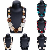 Fashion Women Acrylic Geometry Pendant Chain Choker Chunky Bib Necklace Jewelry