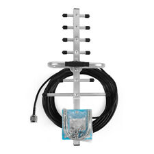 Outdoor Directional Yagi Antenna Mobile Signal Booster N-Male With 10m Cable