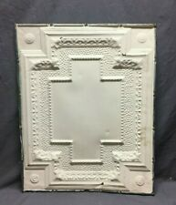 """One Antique Embossed Cross Tin Metal Ceiling 24""""x 30"""" Shabby Chic Old 404-20B"""