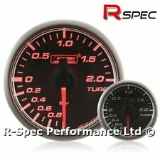 45mm Stepper Motor Turbo Boost Pressure Gauge BAR - Compact / Small - Amber