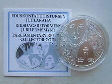 Finland Silver 10 euro 2006  Parlamientary Reform  BU  + COA !!!