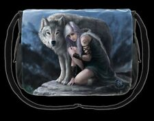 Borsa a tracolla con Wolf - Protector BY ANNE STOKES - Fantasia messanger Donna