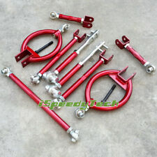 Front Rear Camber Kit Suspension Traction Toe Arm Fit Nissan S13 240SX 89-94 Red