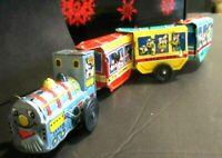 Rare VINTAGE 1950S MARX Wind Up DISNEY EXPRESS Tin Toy Train -Free ship to U.S.