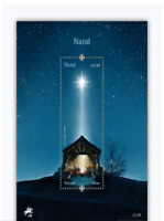 Worlds First Stamp with LED that lights up Star of Bethlehem Xmas Portugal 2019