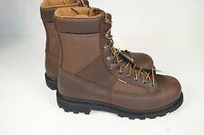 "NIB Carhartt 8"" Low Heel Camel Brown Logger Boots Steel Toe Sz 9 US Waterproof"