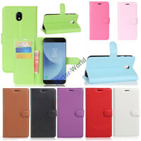 For Samsung Galaxy J5 2017 J530 Wallet Card Flip PU Leather TPU Case Stand Cover