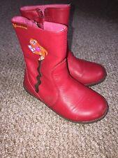 agatha ruiz de la prada girls Red Boots Size 26
