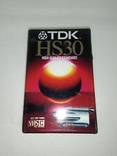 Cassetta Vergine Per Videocamera Vhs-C TDK HS30 EC-30HSEH E Monitoraggio