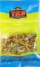 50g Green Cardamom Elaichi Seeds Grade a Premium Quality TRS BRAND