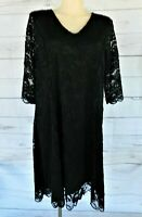 Ladies Plus Size Lace Dress – Black - Size 24/26 & 26/28