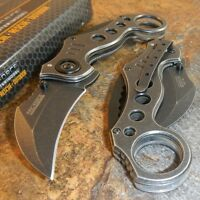 TAC-FORCE Spring Assisted Opening STONE WASHED KARAMBIT CLAW Pocket Knife
