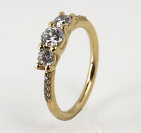 New Genuine Pandora Smooth Band Stackable Ring 14k Gold