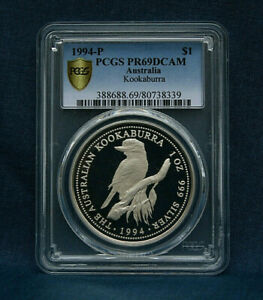 1994-P $1 PROOF AUSTRALIA KOOKABURRA PCGS PR69 DCAM *VERY RARE*