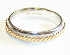 Handmade Multi-Tone Gold Band Precious Metal Rings without Stones