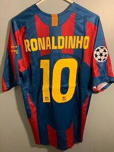 NEW Ronaldinho FC Barcelona 2006 UCL Final Jersey Men Medium