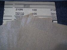 3M SANDPAPER SHEET 100 GRIT 6 sheets Production Abrasive 210N