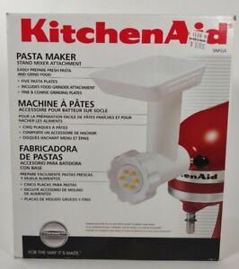 KitchenAid SNFGA Pasta Maker Stand Mixer Attachment w/ Food Grinder Attachment